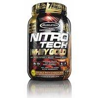 MuscleTech Nitro Tech 100% Whey Gold Muscle Building Powder, Chocolate, 2.5 Pound