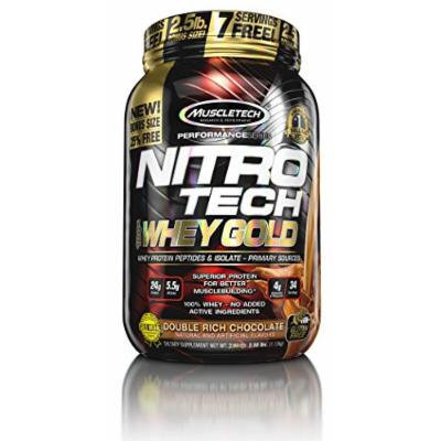 MuscleTech Nitro Tech 100% Whey Gold Muscle Building Powder, Chocolate, 2.5 Pound