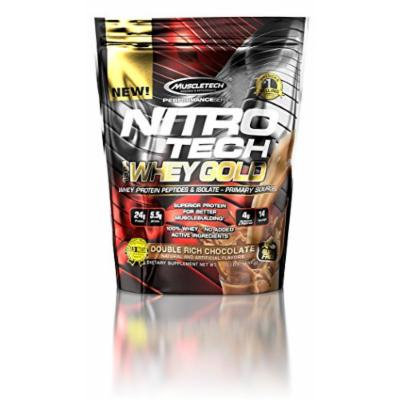 MuscleTech Nitro Tech 100% Whey Gold Muscle Building Powder, Chocolate, 1 Pound
