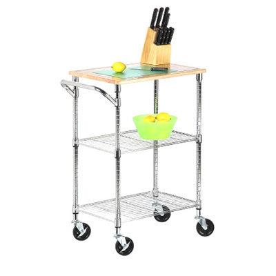 Honey-Can-Do cart: 2 Shelf Rolling Chopping Cart