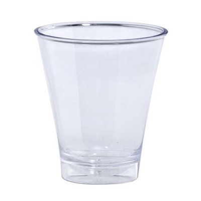 King Zak Ind Lillian Tablesettings 12546 Clear 5Oz Plastic Double Shot Cup Barware - 240 Per Case