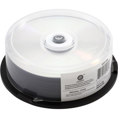 @.com DVD-R, Silver, 25pk