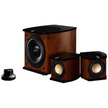 HIVI Acoustics M-20W 2.1 Speaker System - 80 W RMS - Glossy Piano Lacquer, Walnut