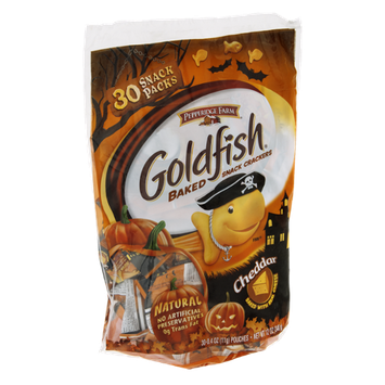 Goldfish Baked Snack Crackers Cheddar Snack Packs - 30 CT