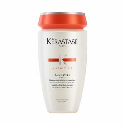 Kerastase Nutritive Bain Satin 1 Shampoo 8.5 Oz and Lait Vital 6.8 Oz Conditioner Combo