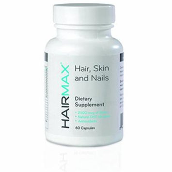 HairMax Hair, Skin and Nails Dietary Supplement For Men, 60 Capsules