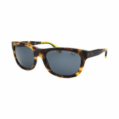 Polo By Ralph Lauren Ph4077-5351-87 Rectangle Tortoise Yellow & Blue Accents Sunglasses