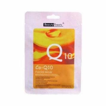 (6 Pack) BEAUTY TREATS Facial Mask Refreshing Vitamin C Solution - Co-Q10