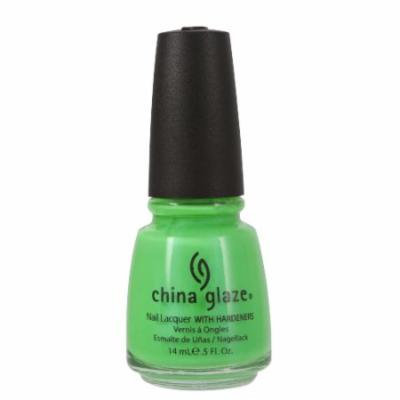 (6 Pack) CHINA GLAZE Nail Lacquer with Nail Hardner - In The Lime Light Neon