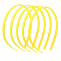 5 Pcs Plastic Hair Hoop Band Headband Yellow w Teeth for Women