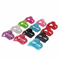 Lady Hairdressing Plastic Hair Clip Barrette Claw Clamp Multicolor 12pcs