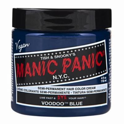 (3 Pack) MANIC PANIC Cream Formula Semi-Permanent Hair Color - Voodoo Blue