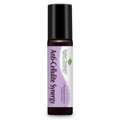 Anti Cellulite Synergy Pre-Diluted Essential Oil Roll-On 10 ml (1/3 fl oz). Ready to use! (Blend of: Juniper Berry, Lavender, Geranium, Bergamot, Chamomile, Rosemary, Grapefruit & Fennel)