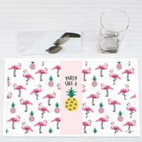 Flamingo - Party Like a Pineapple - Party Placemats - Set of 12