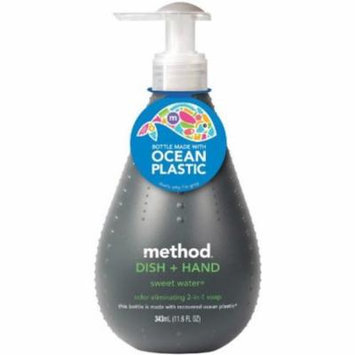 method 2 in 1 dish + hand cleaner ocean plastic sweet water