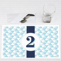 Two Much Fun - Boy - 2nd Birthday Party Placemats - Set of 12