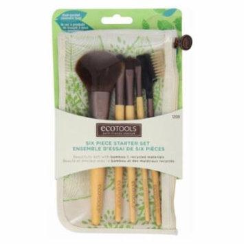 (3 Pack) EcoTools Six Piece Starter Brush Set - Bamboo / Recycled Materials