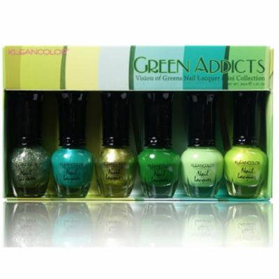 (6 Pack) KLEANCOLOR Nail Lacquer Mini Collection - Green Addicts - Vision of Greens - KCNPC603
