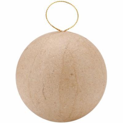 Paper Mache Ball Ornament-2-1/2