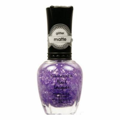 KLEANCOLOR Glitter Matte Nail Lacquer - Playful Lavender