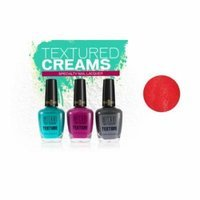 (3 Pack) MILANI Texture Creams Specialty Nail Lacquer - Limited Edition Collection - Tanted In Red