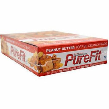 PureFit Peanut Butter Toffee Crunch Nutrition Bars, 15 count