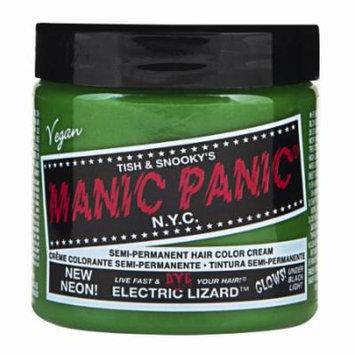 (3 Pack) MANIC PANIC Cream Formula Semi-Permanent Hair Color - Electric Lizard (GLOWS)