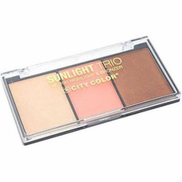 City Color Sunlight Trio Blush, Highlight & Bronzer
