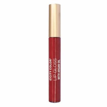 (6 Pack) CITY COLOR Lip Gloss With Argan Oil - Wild Child