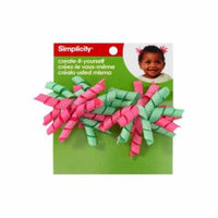 Simplicity Create-It-Yourself Mini Korker Hair Clips, Hot Pink/Mint, Pack of 2