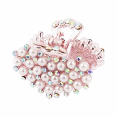 Faux Pearl Decor Heart Shape Hairpin Hair Clips Claws Clamps Hairdressing