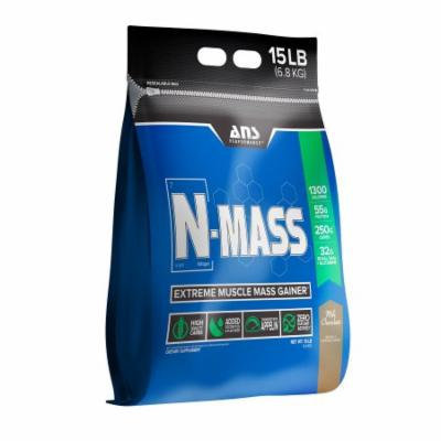 ANS Performance N-Mass Muscle Mass Gainer, Milk Chocolate, 15 Pounds