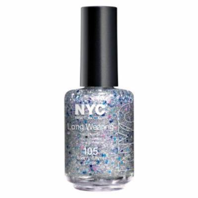 (6 Pack) NYC Long Wearing Nail Enamel - Starry Silver Glitter