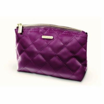(3 Pack) BH Cosmetics Grape Quilted Makeup Bag - Purple