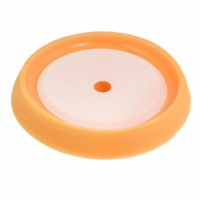 Car Furniture Sponge Polishing Ball Wheel Orange White 8