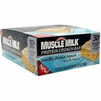 Muscle Milk Vanilla Almond Yogurt Protein Crunch Bars, 2.8 oz, 12 count