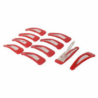 Woman DIY Hairdressing Bendy Slides Grips Hair Clip Red 7cm Length 10pcs