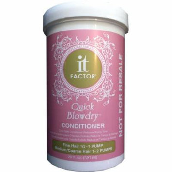 it Factor Quick Blowdry Conditioner For Fine & Medium To Coarse Hair, 20 fl. oz.