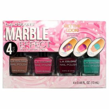 L.A. Colors Marble Effect Nail Polish Set