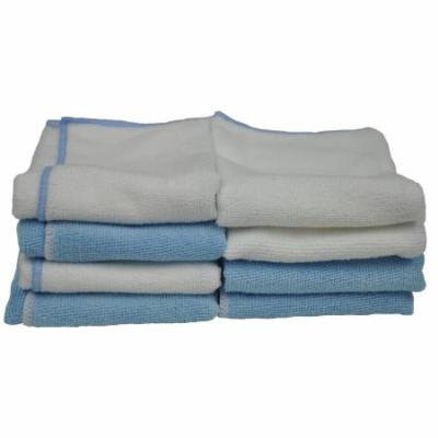 Eurow Microfiber 14in x 14in 230 GSM Cleaning Towels 2 Colors 8-Pack