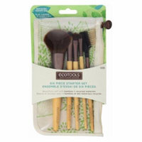 (6 Pack) EcoTools Six Piece Starter Brush Set - Bamboo / Recycled Materials