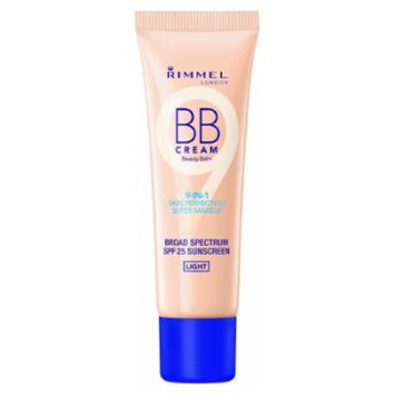 (6 Pack) RIMMEL LONDON BB Cream 9-IN-1 Skin Perfection Super Makeup - Light