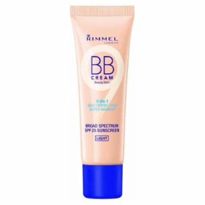 (6 Pack) RIMMEL LONDON BB Cream 9-IN-1 Skin Perfection Super Makeup - Light