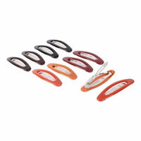 Woman Plastic Hairstyle Bendy Snap Hair Clips Assorted Color 6.5cm Long 10pcs