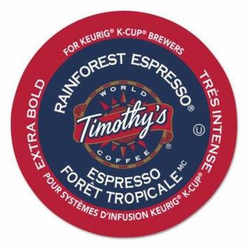 Timothy's World Coffee Rainforest Espresso Coffee K-Cups, 24/Box -GMT1120