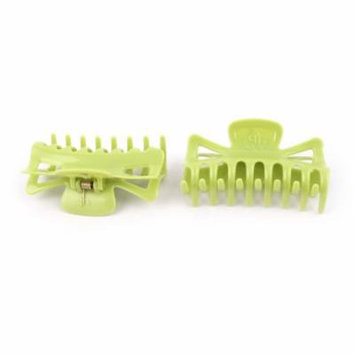 2Pcs Green Hair Jaw Clip Claw Clamp Hairpin Hairclip for Woman