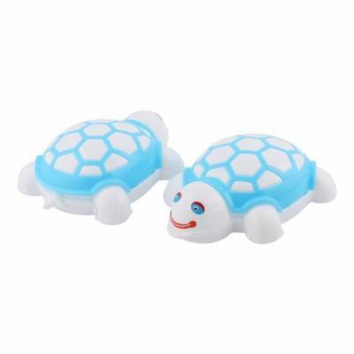 Home Tortoise Design Plastic Shoes Cleaner Scrub Brush Sky Blue White 2 PCS