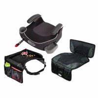 Graco Affix Backless Booster Car Seat with Car Seat Mat + Travel Tray, Davenport