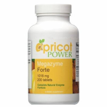 Apricot Power Megazyme Forte 200ct Natural Metabolic Nutrients Immune Enzymes APW-019797v4