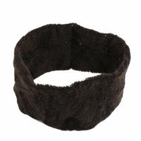Lady Terry Fabric Headband Hair Band Coffee 5.5cm Width 2 Pcs